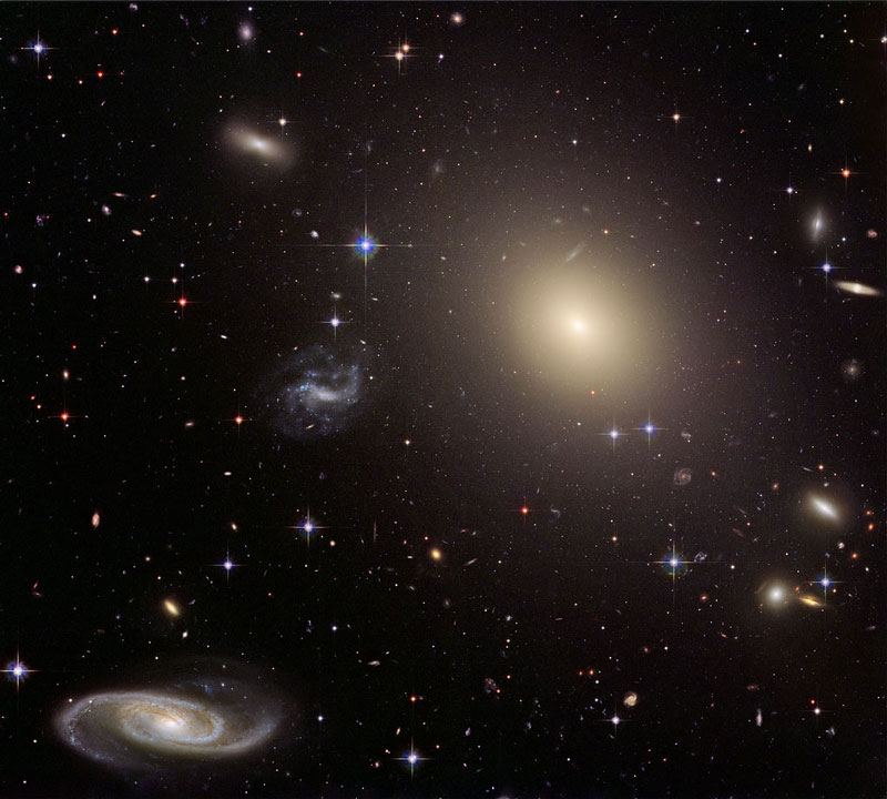 Abell S0740 Cluster of Diverse Galaxies