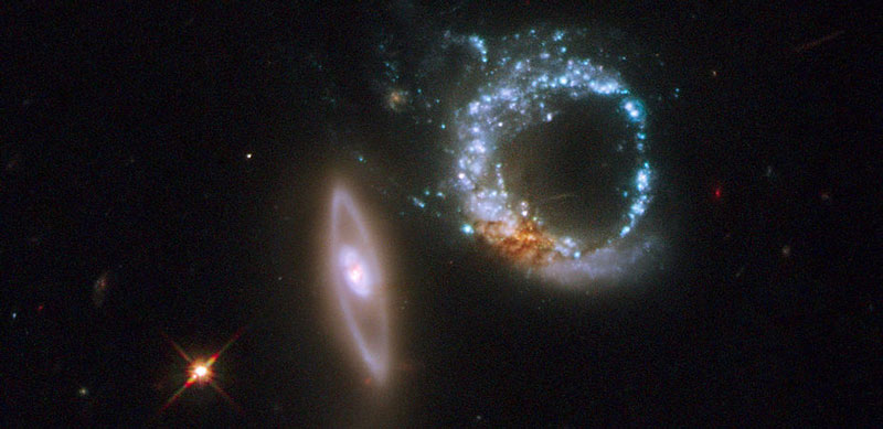 Arp 147 Colliding Galaxies