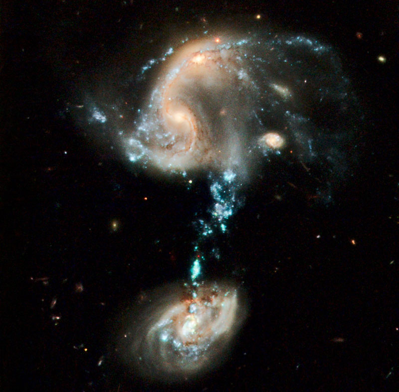 Arp 194 Colliding Galaxies