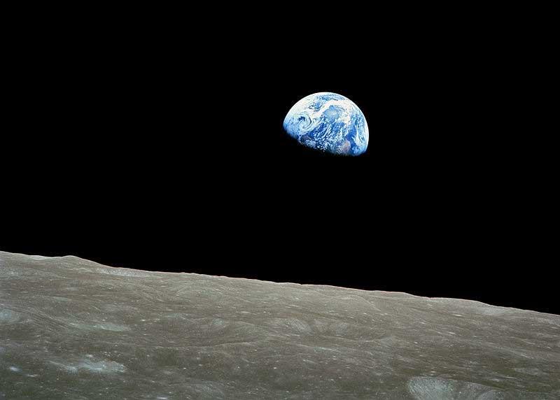 Earthrise on Moon (An Apollo 8 Universe Picture)