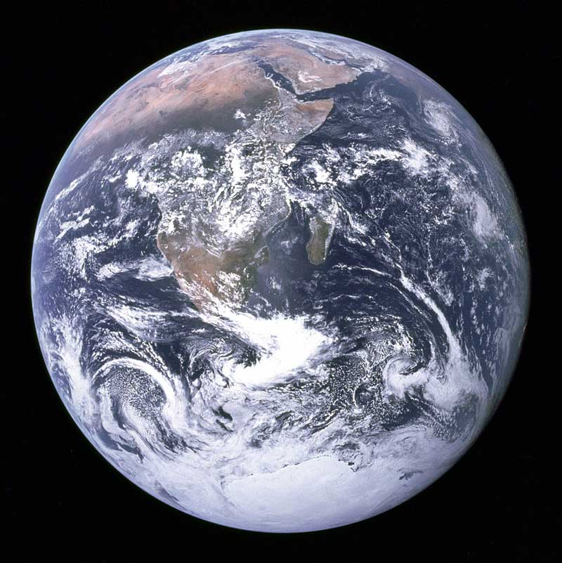 The Blue Marble -- Earth seen from Apollo 17