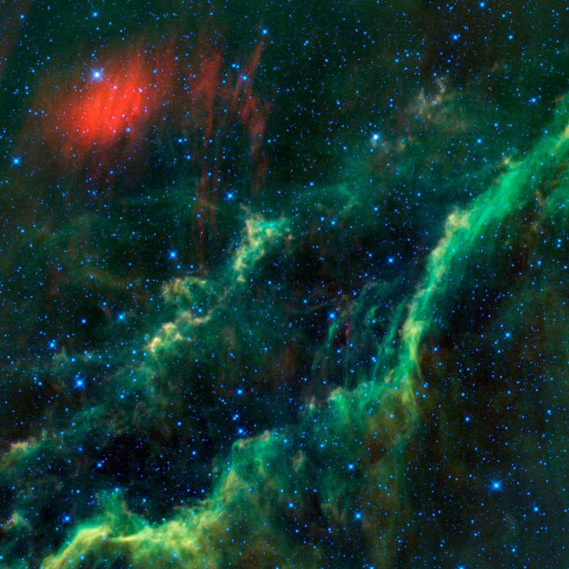 California Nebula and Menkhib(a WISE image)