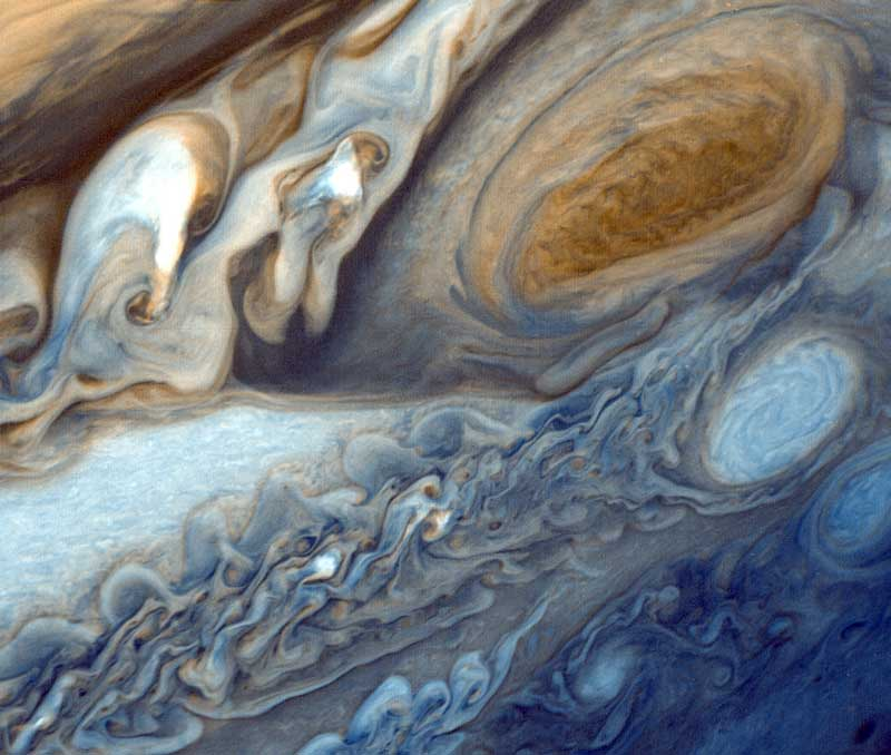 The Stormy Atmosphere of Jupiter (A Voyager Universe Picture)