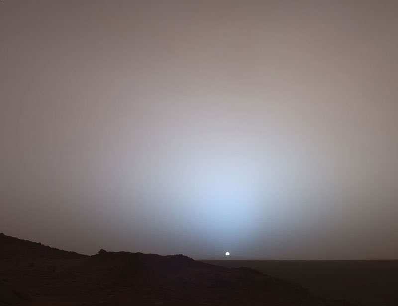 Sunset on Mars (A Rover Universe Picture)